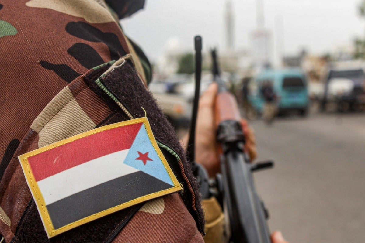 A fighter loyal to Yemen's Southern Transitional Council (STC) in Aden, Yemen on 27 August 2020 [SALEH AL-OBEIDI/AFP/Getty Images]