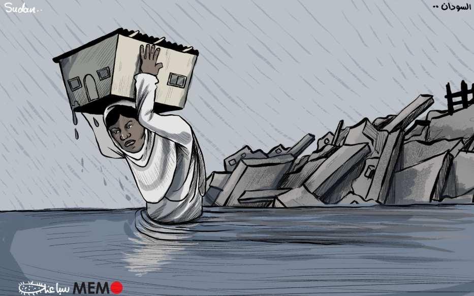 Más de 100 muertes por inundaciones en el Sudán - Cartoon [Sabaaneh/MiddleEastMonitor]