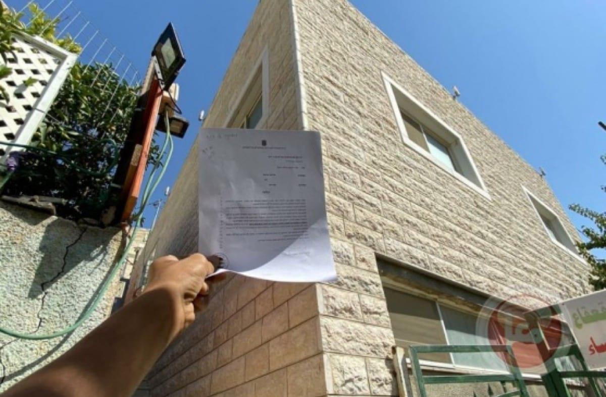 Israeli demolish order of Al-Qa'qa' Mosque in Jerusalem's Silwan on 15 September 2020 [Maan News]