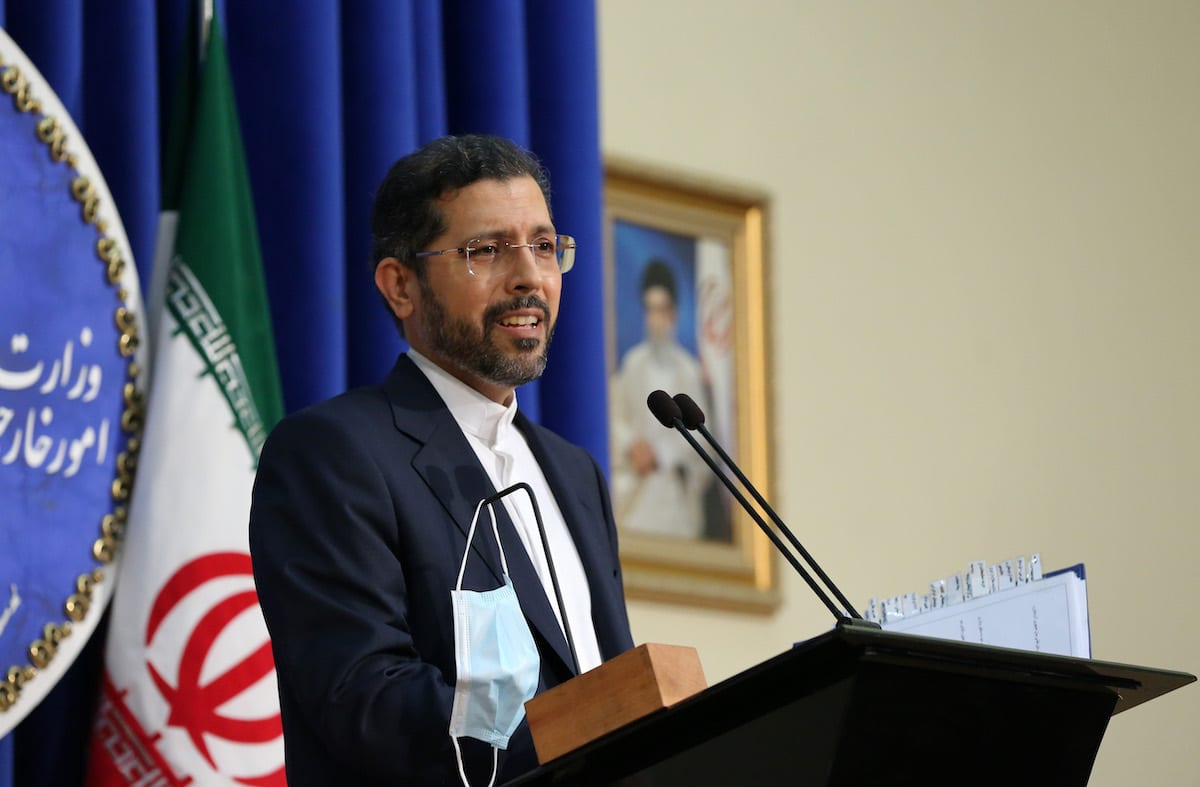 Iranian Foreign Ministry Spokesman Saeed Khatibzadeh in Tehran, Iran on 5 October 2020 [Fatemeh Bahrami/Anadolu Agency]