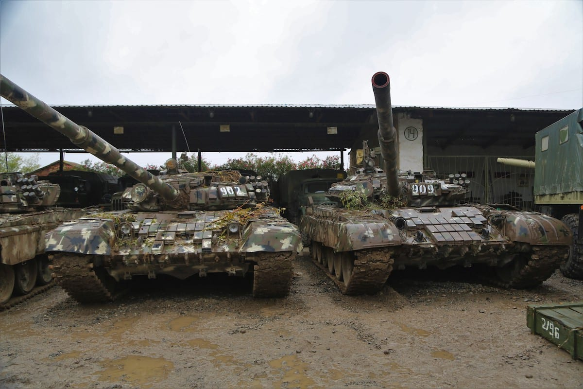 T-72 tanks of Armenian military are seized by Azerbaijan army as Armenian soldiers fled their positions, leaving behind their weapons and military vehicles, in Azerbaijan on October 5, 2020 [Resul Rehimov - Anadolu Agency]