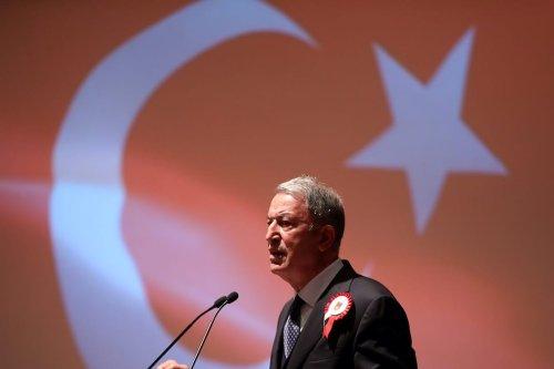 Turkish National Defense Minister Hulusi Akar in Ankara, Turkey on October 12, 2020 [Arif Akdoğan/Anadolu Agency]