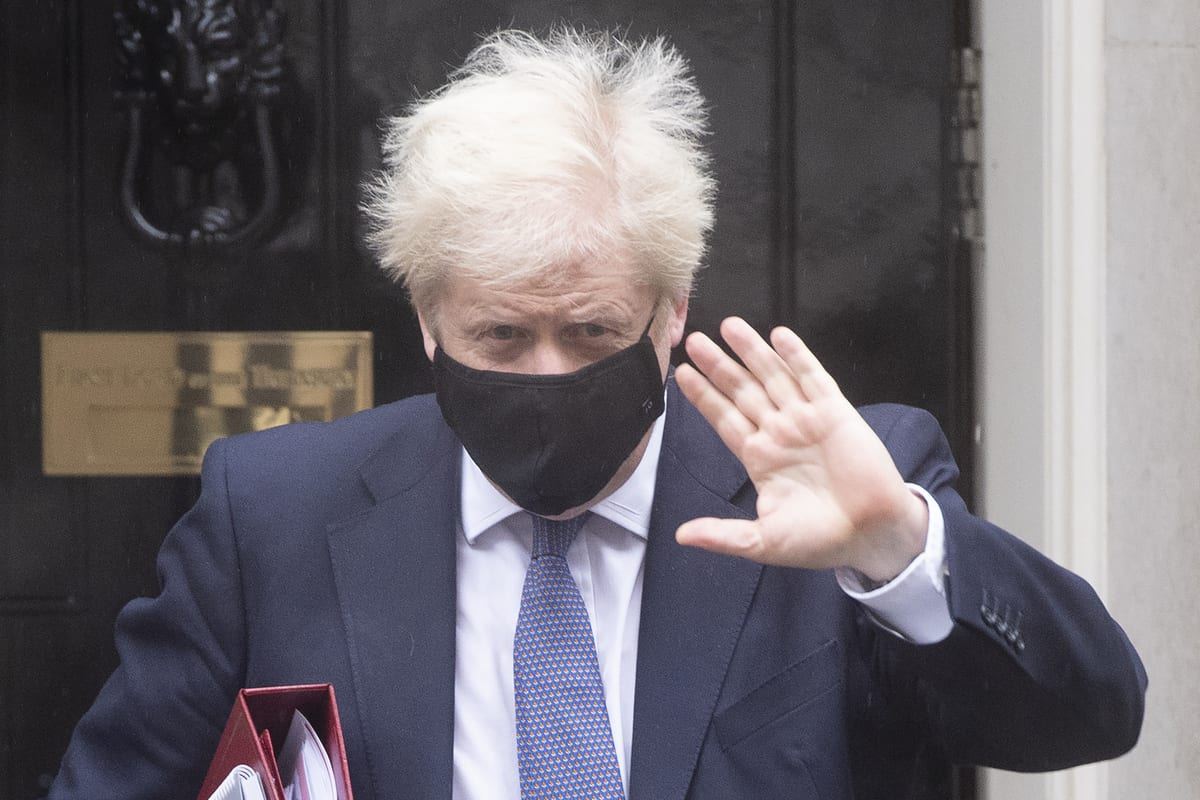 British Prime Minister Boris Johnson leaves number 10 Downing Street in London, UK on 21 October 2020 [Ray Tang/Anadolu Agency]