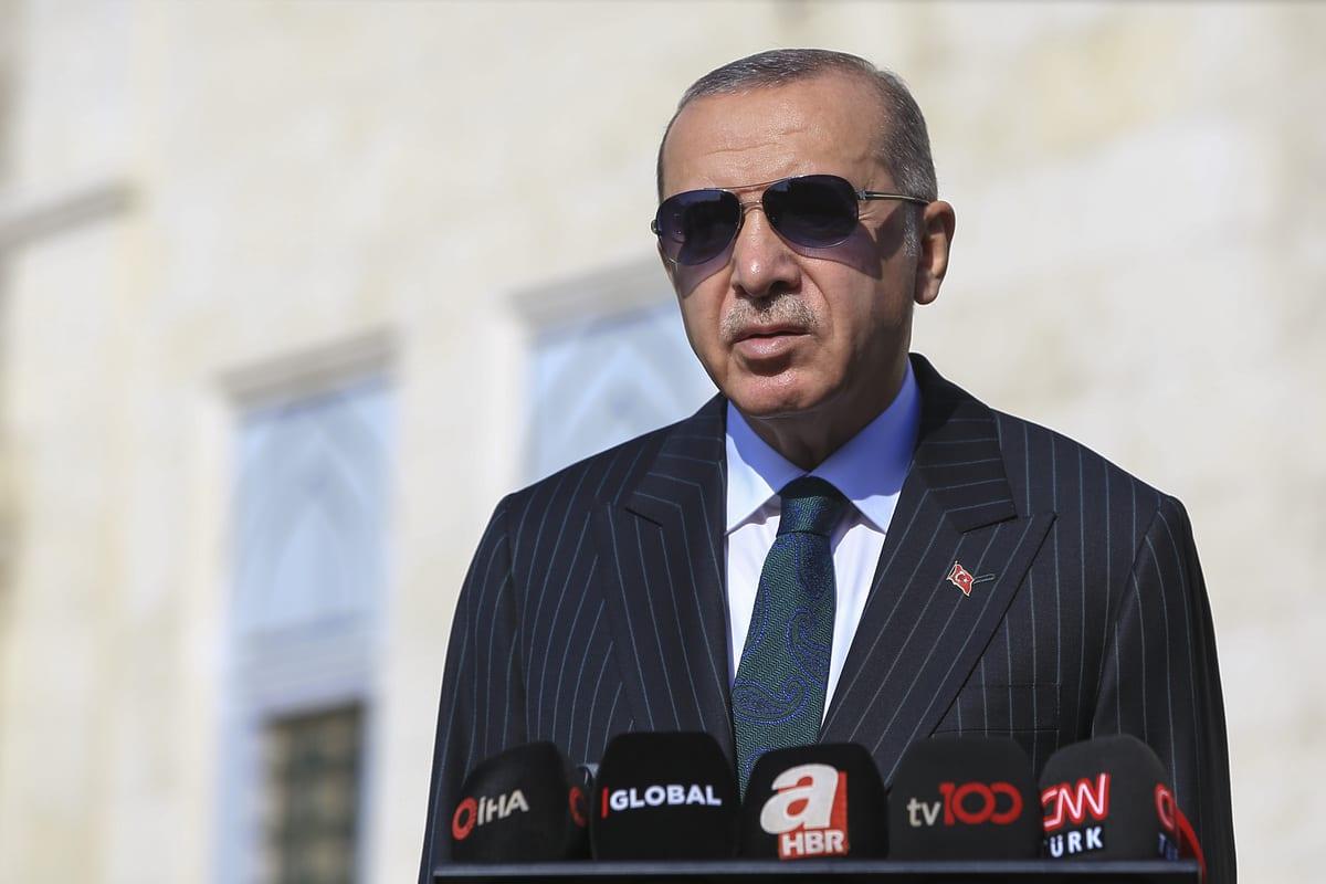 President of Turkey, Recep Tayyip Erdogan in Uskudar district of Istanbul, Turkey on October 23, 2020 [Serhat Çağdaş/Anadolu Agency]