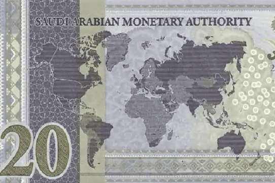 The map on Saudi Arabia newly issued 20 Riyal banknote shows Kashmir, Jammu, and Ladakh are not Indian territories. The banknote released to mark Saudi Arabia's presidency of the G20 grouping [@shen_shiwei/Twitter]