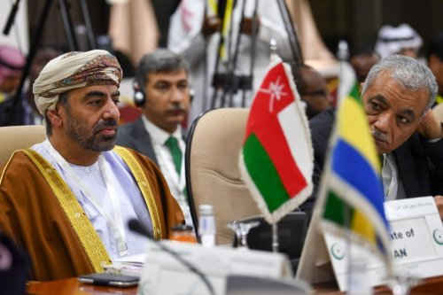 Omani ambassador to Saudi Arabia Ahmad bin Hilal Albusaidi attends a meeting of the Organisation of Islamic Cooperation's (OIC) in Jeddah on February 3, 2020, to address US President Donald Trump's Middle East plan [AMER HILABI/AFP via Getty Images]