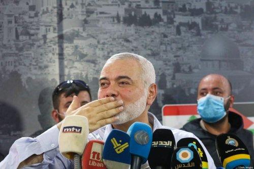 Hamas' political bureau chief Ismail Haniyeh on September 6, 2020 [MAHMOUD ZAYYAT/AFP via Getty Images]