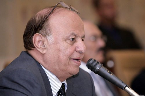 Yemeni President Abdrabbuh Mansur Hadi speaks during a meetingon December 7, 2011 [AFP via Getty Images]