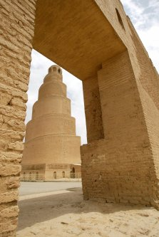 The Spiral Minaret at the remains of the ancient city of Samarra, seen on 19 April 2003 [PHILIPPE DESMAZES/AFP via Getty Images]
