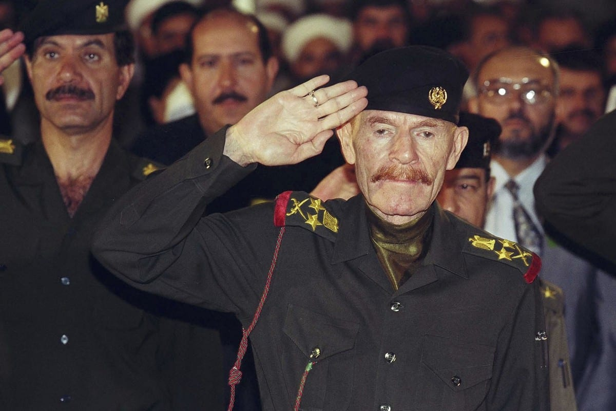 Izzat Al-Douri, a former close aide to longtime Iraqi dictator Saddam Hussein in Baghdad, Iraq on 27 March 2006 [Salah Malkawi/Getty Images]