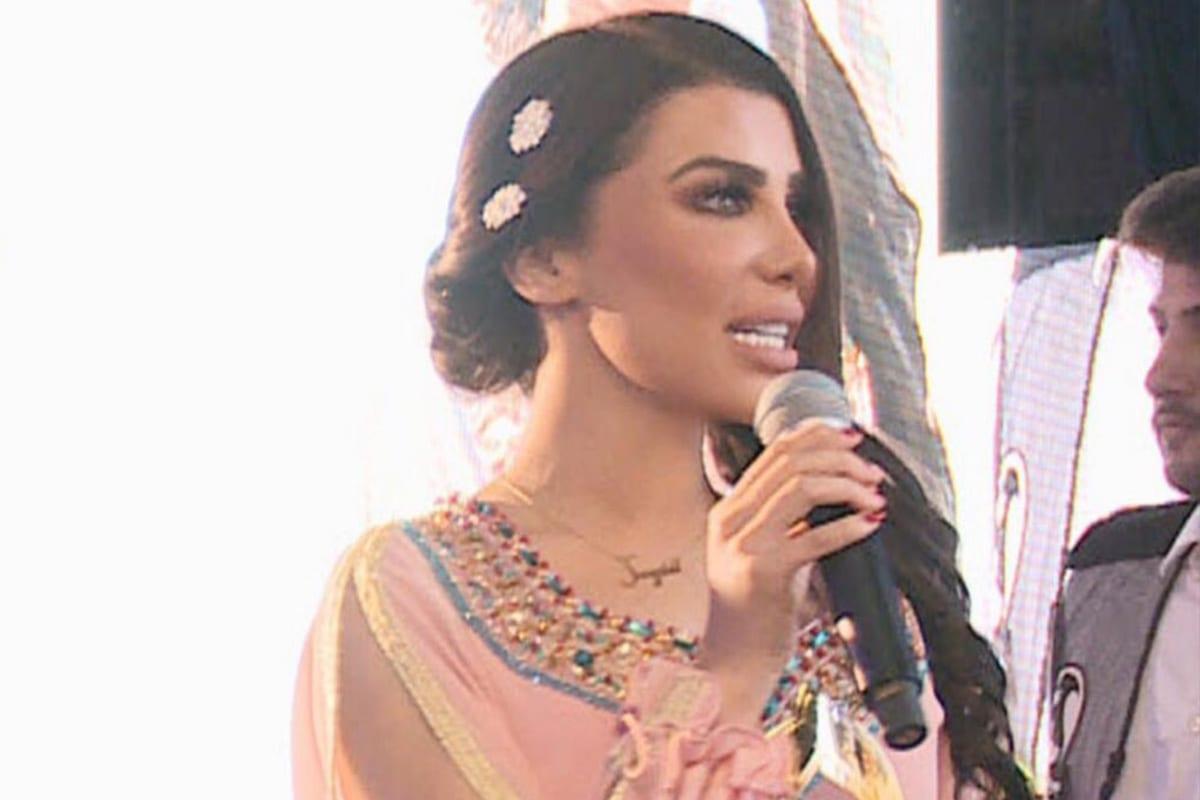 Lebanese TV presenter, Sazdel El-Kak, 21 October 2020 [Sazdell/Twitter]