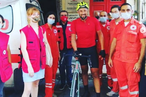 Lebanese-British man cycles to Lebanon to raise funds for blast victims