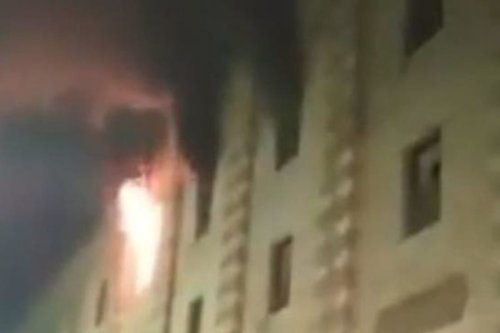 Firefighters tackle blaze at Al-Azhar Mosque
