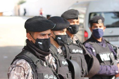Security forces are wearing masks during the coronavirus (Covid-19) pandemic in Amman, Jordan on 10 November 2020 [Laith Al-jnaidi/Anadolu Agency]