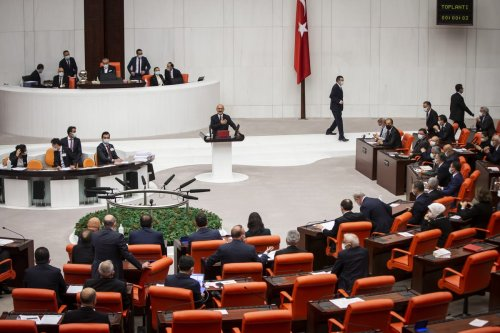 Members of the parliament within sessions held at Grand National Assembly of Turkey on November 10, 2020 in Ankara, Turkey [Özge Elif Kızıl/Anadolu Agency]