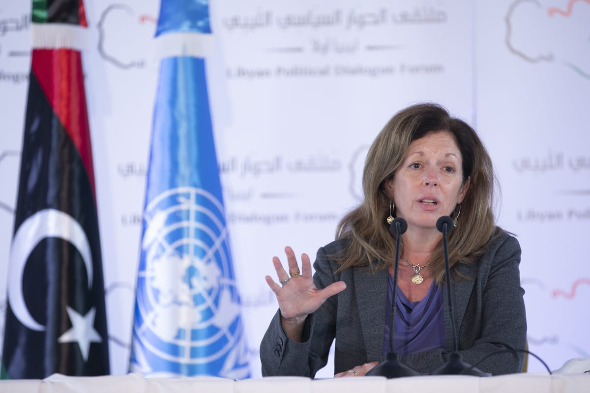 Stephanie Williams, head of the UN Support Mission in Libya (UNSMIL) on November 16, 2020 in Tunis, Tunisia [Yassine Gaidi/Anadolu Agency]