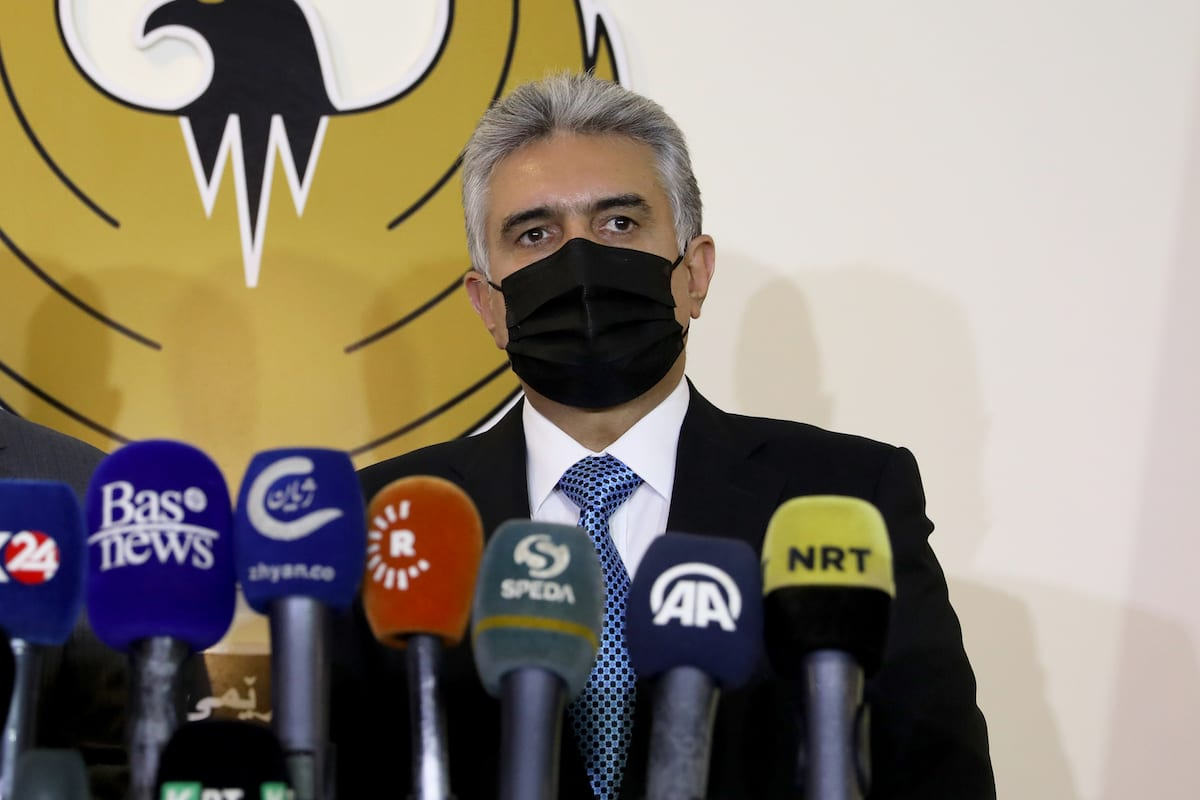 Iraqi Kurdish Regional Government (KRG) Interior Minister Rebar Ahmed Khalid [Yunus Keleş/Anadolu Agency]