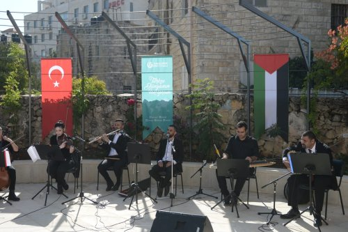 Turkey-Palestine amity concert, organised by Yunus Emre Turkish Cultural Centre in Jerusalem and Al Kamandjâti Association, held at Centre for Architectural Conservation in Ramallah, West Bank on November 19, 2020 [Issam Rimawi/Anadolu Agency]