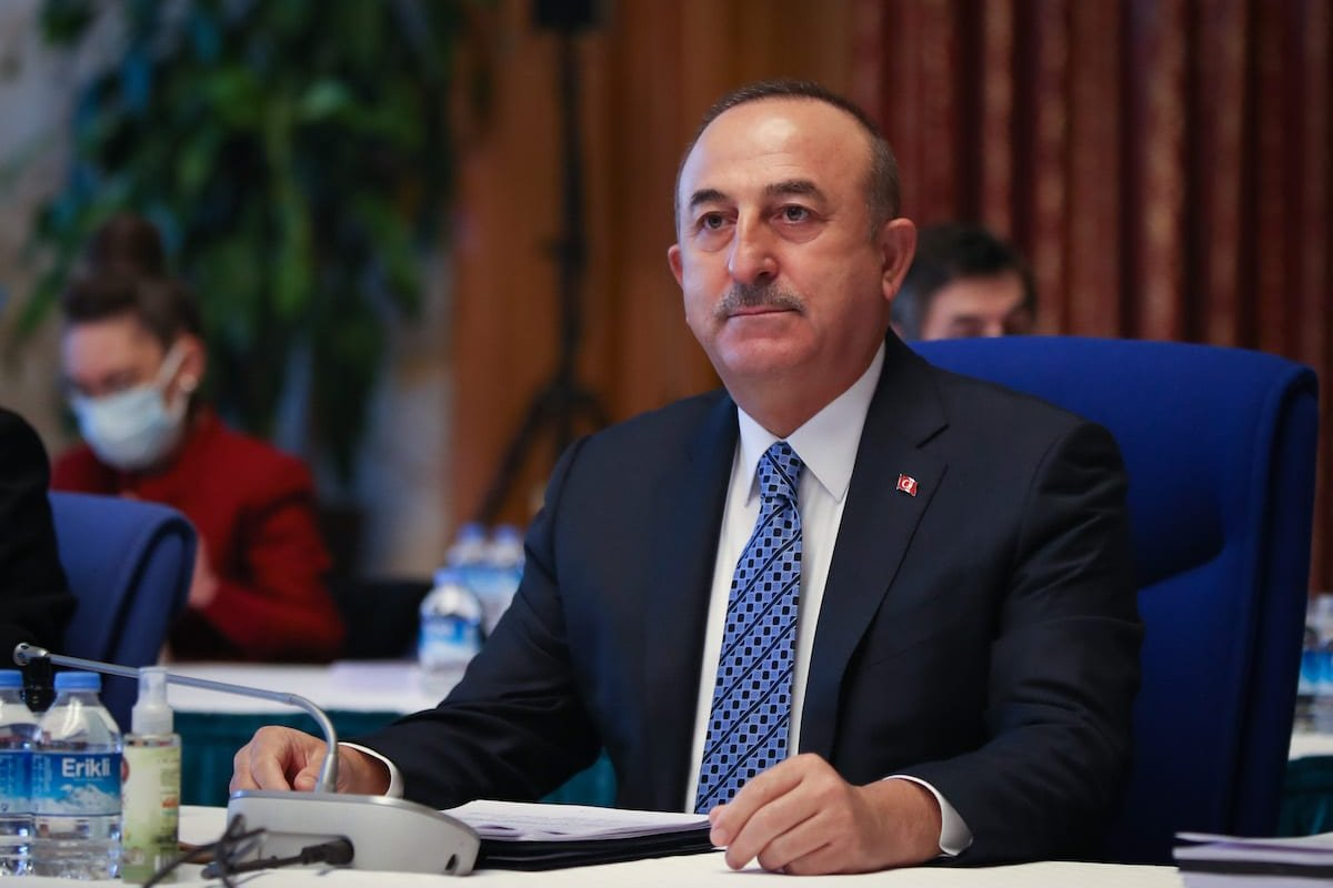 Turkish Foreign Affairs Minister Mevlut Cavusoglu in Ankara, Turkey on 24 November 2020 [Cem Özdel/Anadolu Agency]