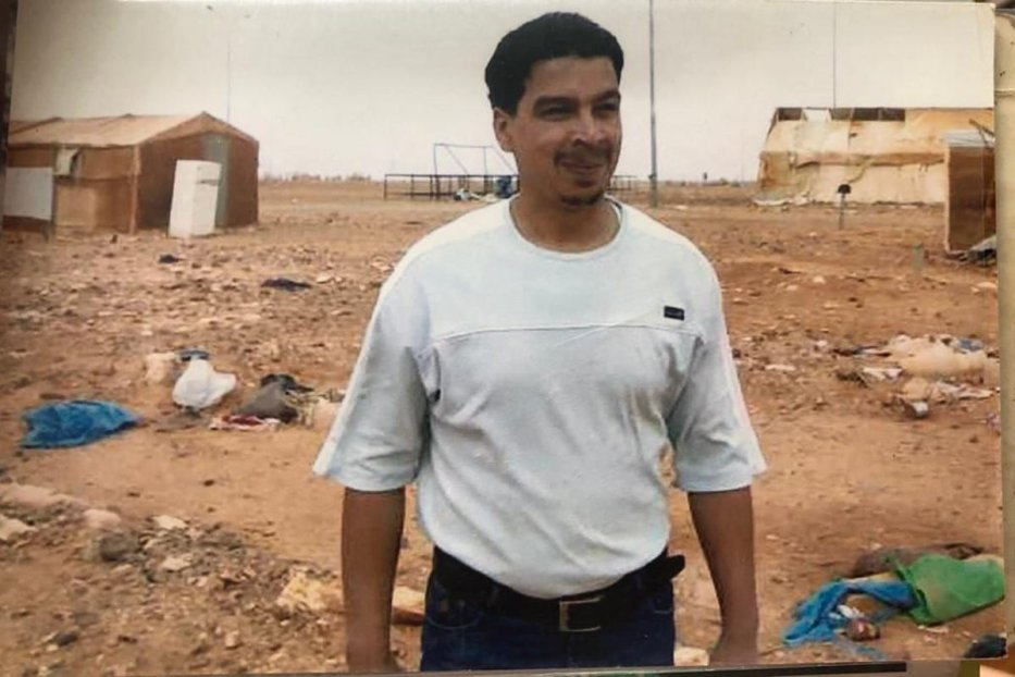 Mohamad Al Assad lived 4 years at Ruweished camp on the middle of a desert , about 70 km from Jordan's border with Iraq, 2007( photo: Mohamad Al Assad)