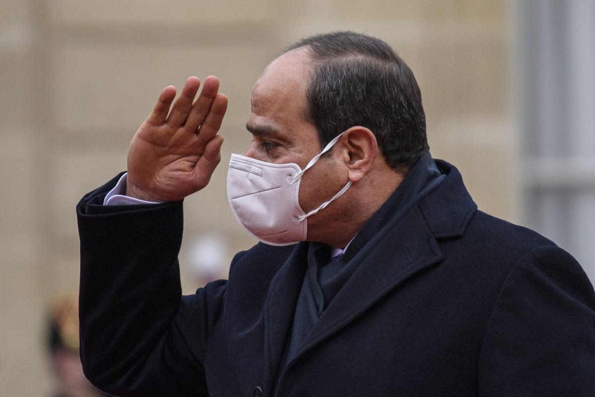 President of Egypt, Abdel Fattah Al-Sisi in Paris, France on 7 December 2020 [Julien Mattia/Anadolu Agency]
