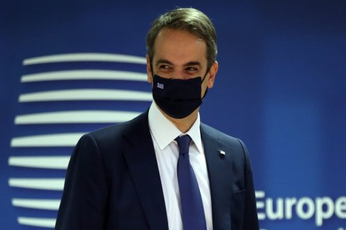 Prime Minister of Greece Kyriakos Mitsotakis attends EU Leaders Summit in Brussels, Belgium on December 10, 2020 [Dursun Aydemir/Anadolu Agency]