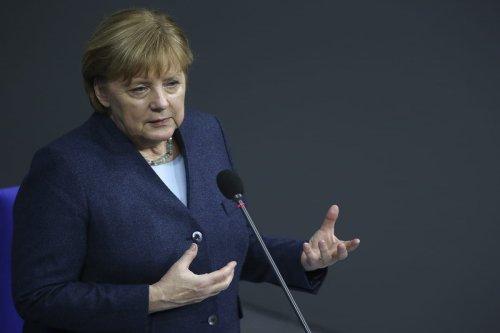 German Chancellor Angela Merkel in Berlin, Germany on 16 December 2020 [Abdulhamid Hoşbaş/Anadolu Agency]