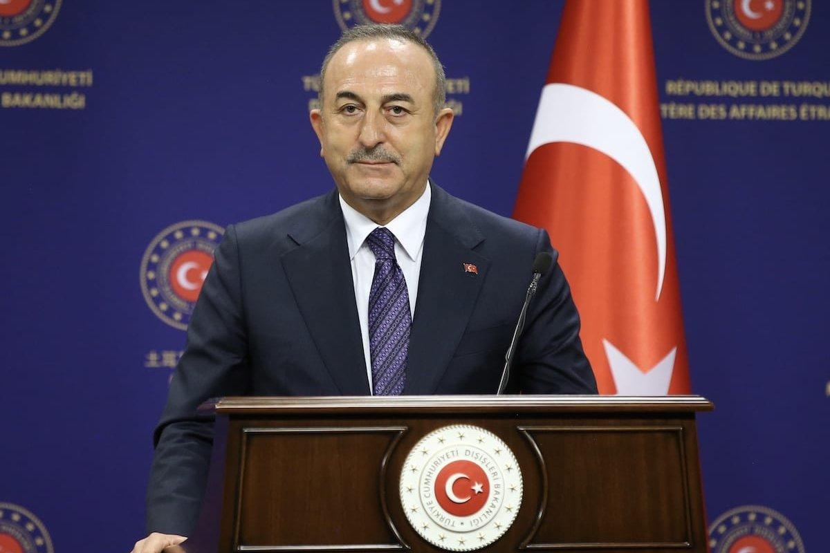 Minister of Foreign Affairs of Turkey, Mevlut Cavusoglu in Ankara, Turkey on December 28, 2020 [Fatih Aktaş/Anadolu Agency]