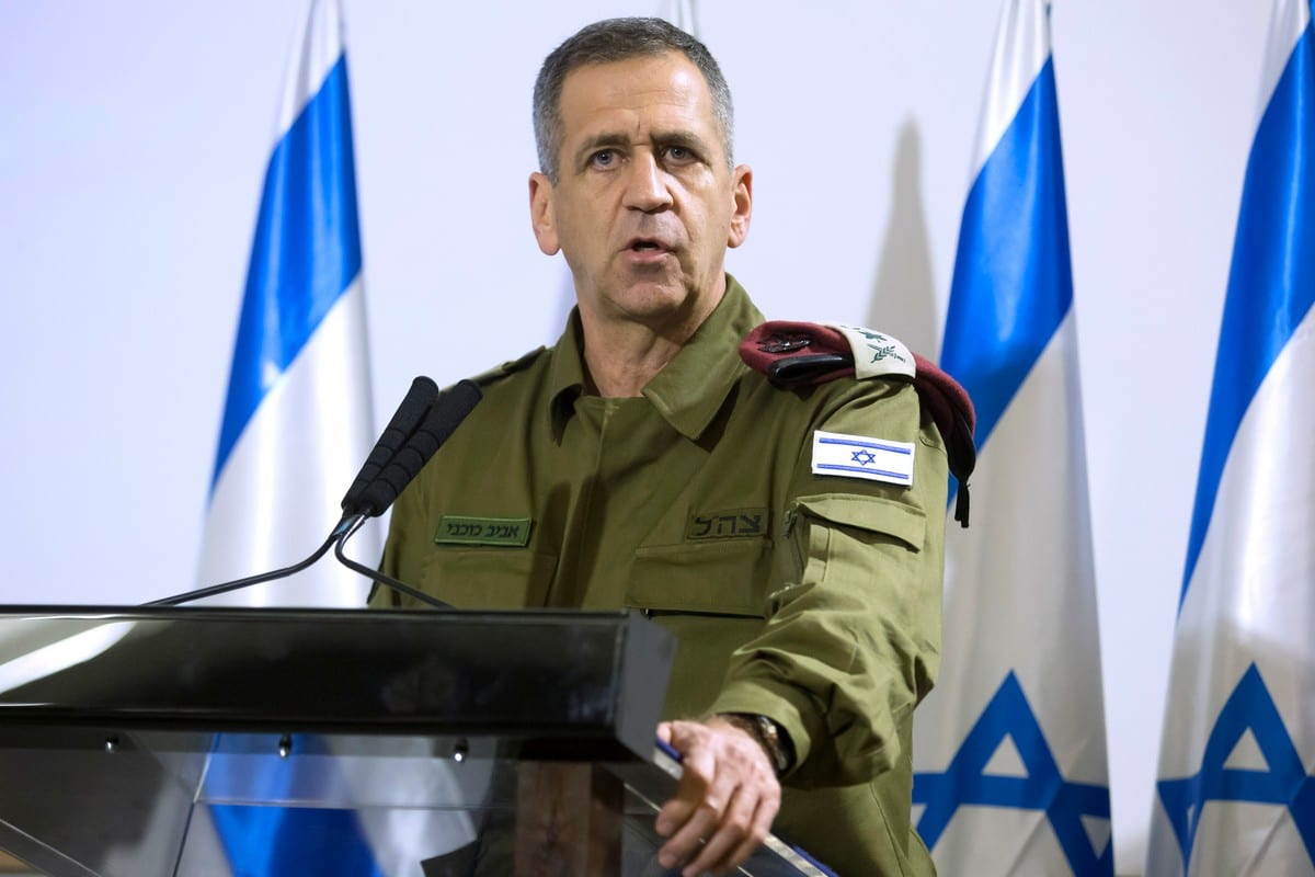Chief of Staff of the Israeli occupation army, Aviv Kochavi on 12 November 2019 in Tel Aviv [Amir Levy/Getty Images]
