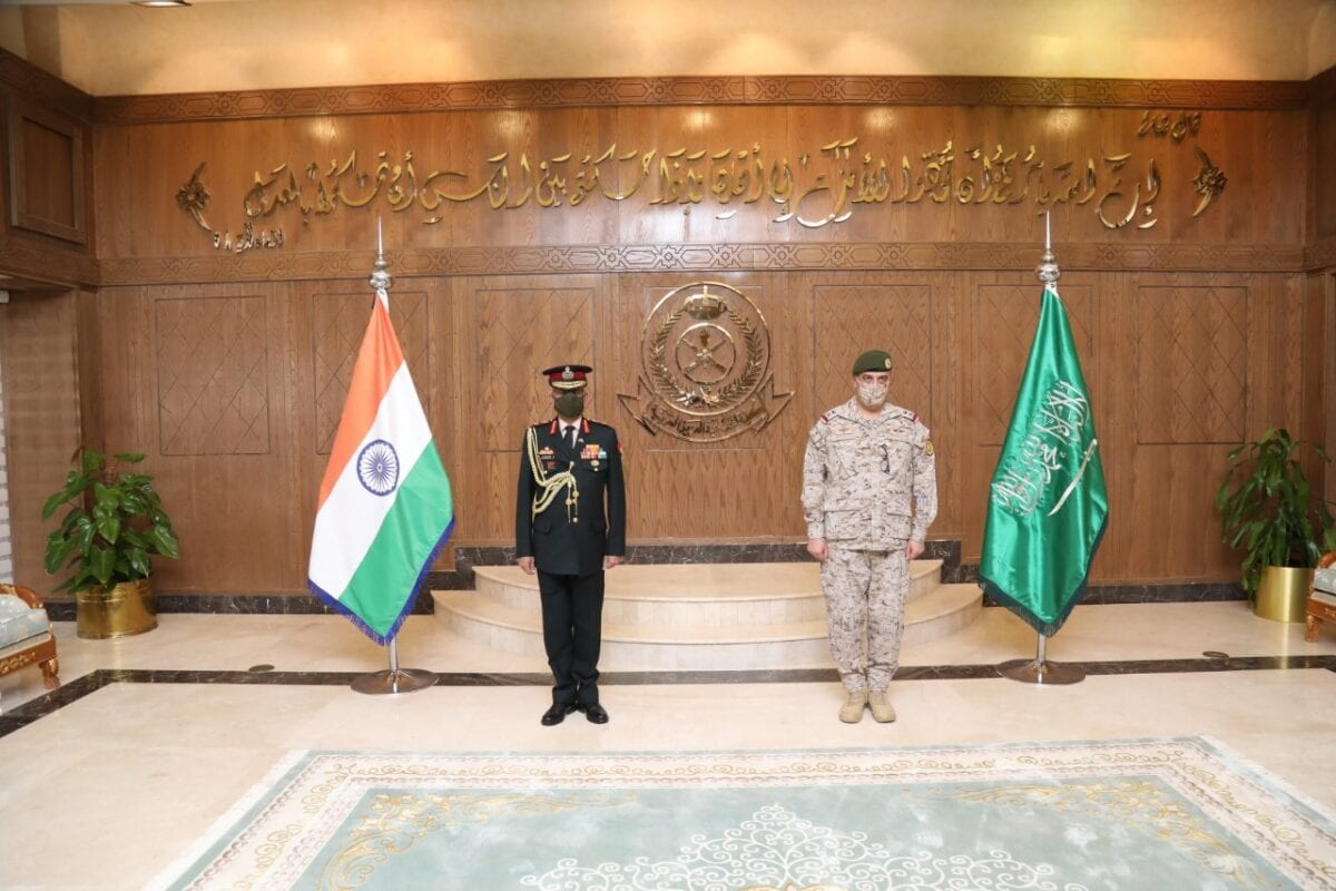 India's top General Manoj Mukund Naravane held historic talks with his Saudi counterparts yesterday as part of the second leg of his two-nation visit to strategically important Gulf countries, including neighbouring UAE [@adgpi /Twitter]