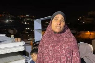 The Israeli municipality in occupied Jerusalem forced a Palestinian woman from the village of Silwan to demolish her house over claims that it lacked building licenses on 22 December 2020 [@adham922 /Twitter]