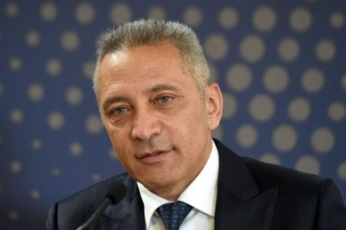 The Moroccan minister of Industry and Economy, Moulay Hafid Elalamy, attends the inauguration of a car assembly line at the Kenitra PSA Car Assembly Plant on 21 june 2019. [FADEL SENNA/AFP via Getty Images]