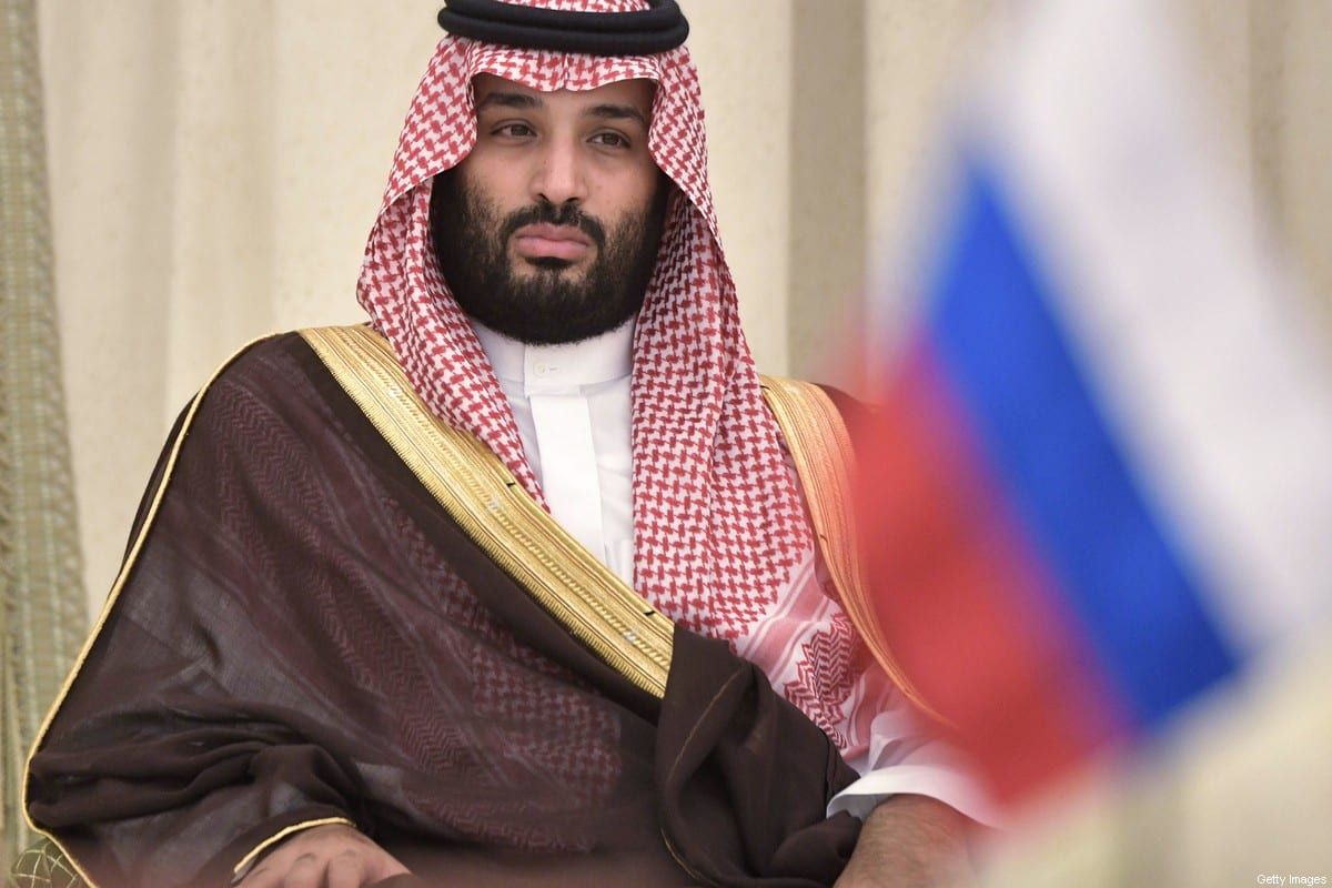 Saudi Arabia's Crown Prince Mohammed bin Salman attends a signing ceremony following a meeting of Russian President Vladimir Putin with Saudi Arabia's King Salman in Riyadh, Saudi Arabia, on October 14, 2019. (Photo by Alexey NIKOLSKY / SPUTNIK / AFP) (Photo by ALEXEY NIKOLSKY/SPUTNIK/AFP via Getty Images)