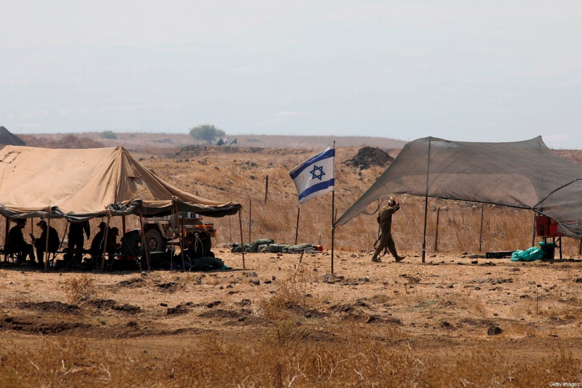 Israeli soldiers take part in a military drill in the Israeli-annexed Golan Heights on September 1, 2020 [JALAA MAREY/AFP via Getty Images]
