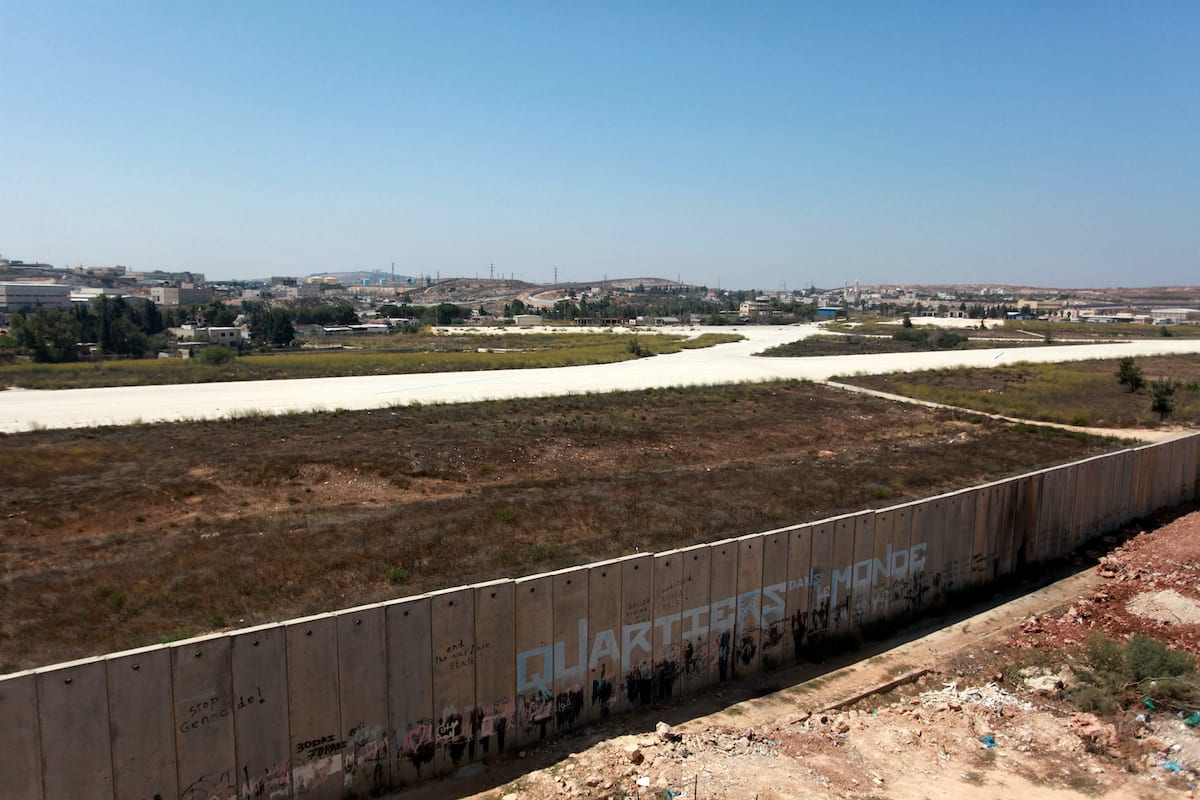A General view shows the site of Atarot airport in the Qalandia area in northern Jerusalem on 29 August 2013. [Issam Rimawi/Apaimages]