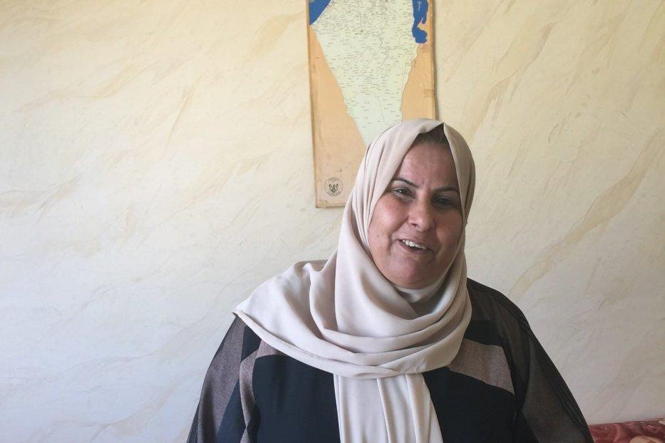 Jondiaa Awwad Al Dheini, a Palestinian who live in Jerash refugee camp in Jordan