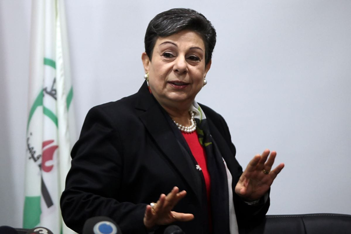 Former Palestine Liberation Organisation (PLO) executive committe member Hanan Ashrawi on September 28, 2012 in the West Bank city of Ramallah [ABBAS MOMANI/AFP/GettyImages]