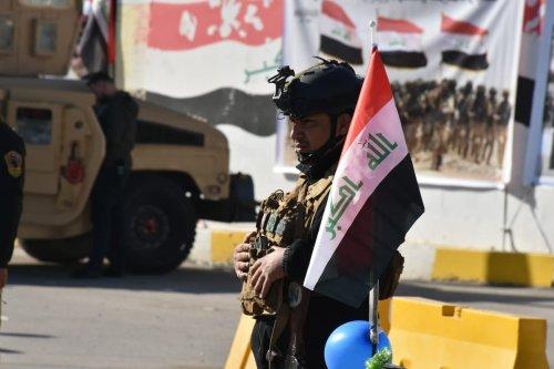 Iraqi soldiers on January 03, 2021 [Ali Makram Ghareeb/Anadolu Agency]