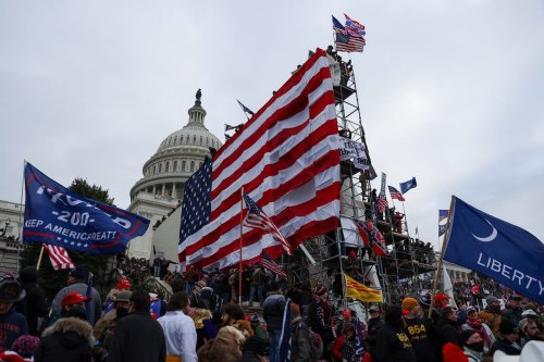 US President Donald Trump's supporters gather outside the Capitol building in Washington D.C, US on 6 January 2021 [Tayfun Coşkun/Anadolu Agency]