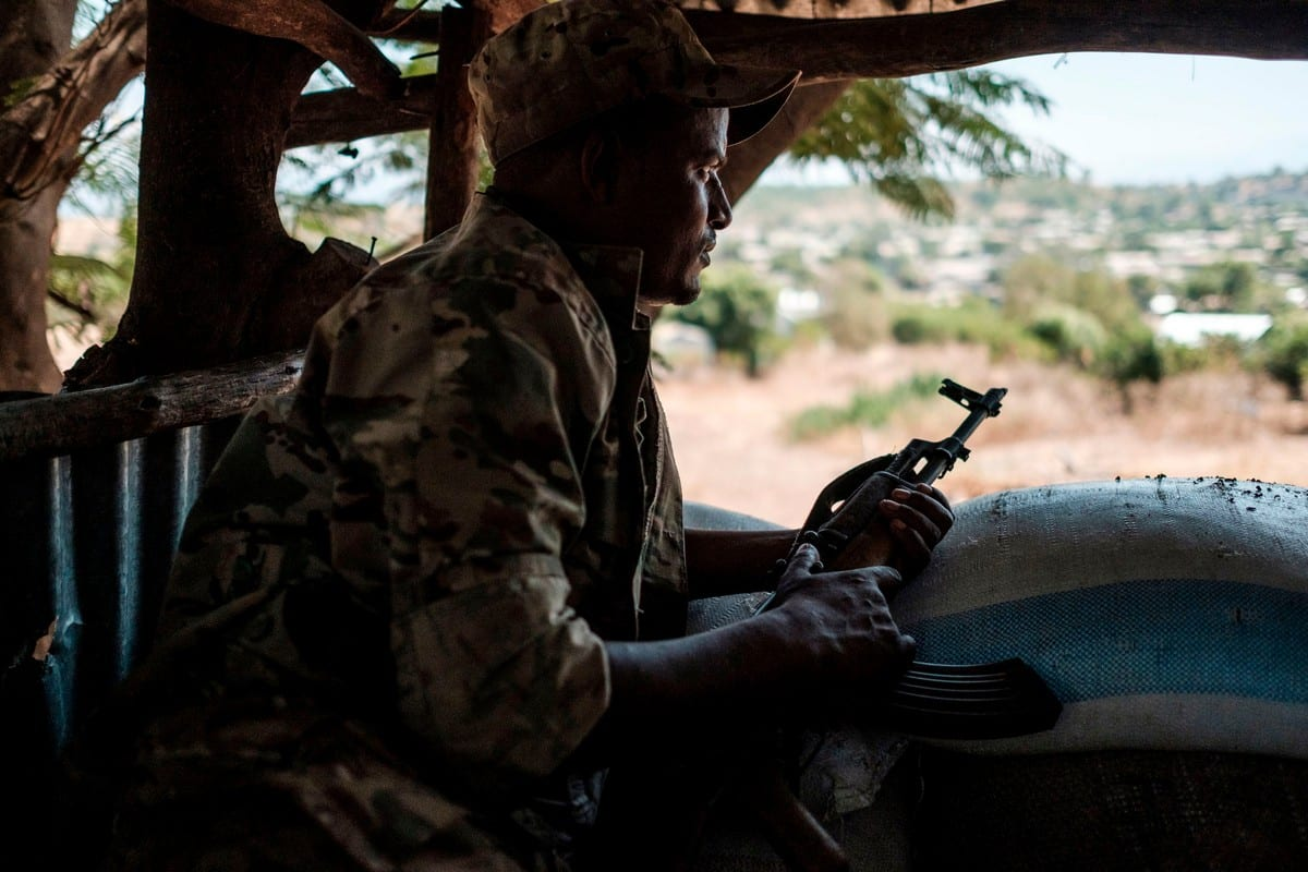 A member Ethiopian Army in in Dansha, Ethiopia on 25 November 2020 [EDUARDO SOTERAS/AFP/Getty Images]