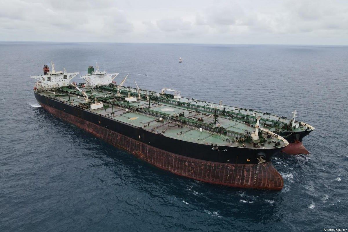 An Iranian-flagged tanker [INDONESIAN COAST GUARD / Anadolu Agency]