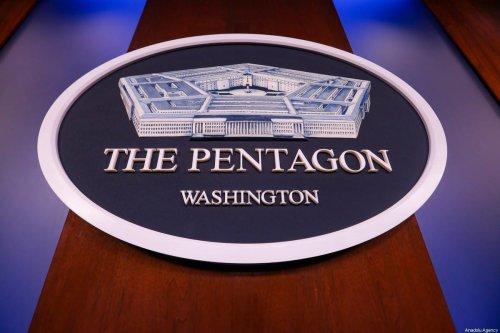 Pentagon logo on January 28, 2021. [Yasin Öztürk - Anadolu Agency]