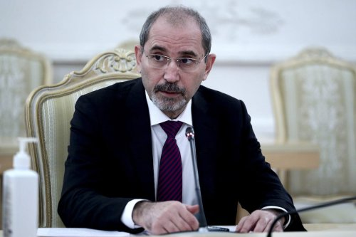 Jordanian Foreign Minister Ayman Al-Safadi in Moscow, Russia on 3 February 2021 [Russian Foreign Ministry/Anadolu Agency]