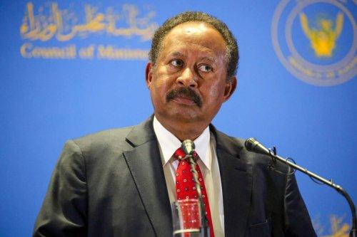 Prime minister of Sudan Abdalla Hamdok announces major Cabinet reshuffle during a news conference on 8 February 2021 in Khartoum, Sudan. [Mahmoud Hjaj - Anadolu Agency]