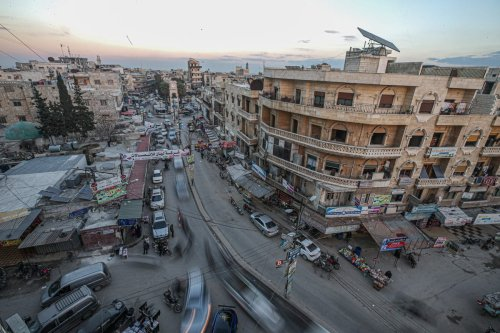 A view of Idlib city centre in Syria on February 15, 2021 [Muhammed Said / Anadolu Agency]