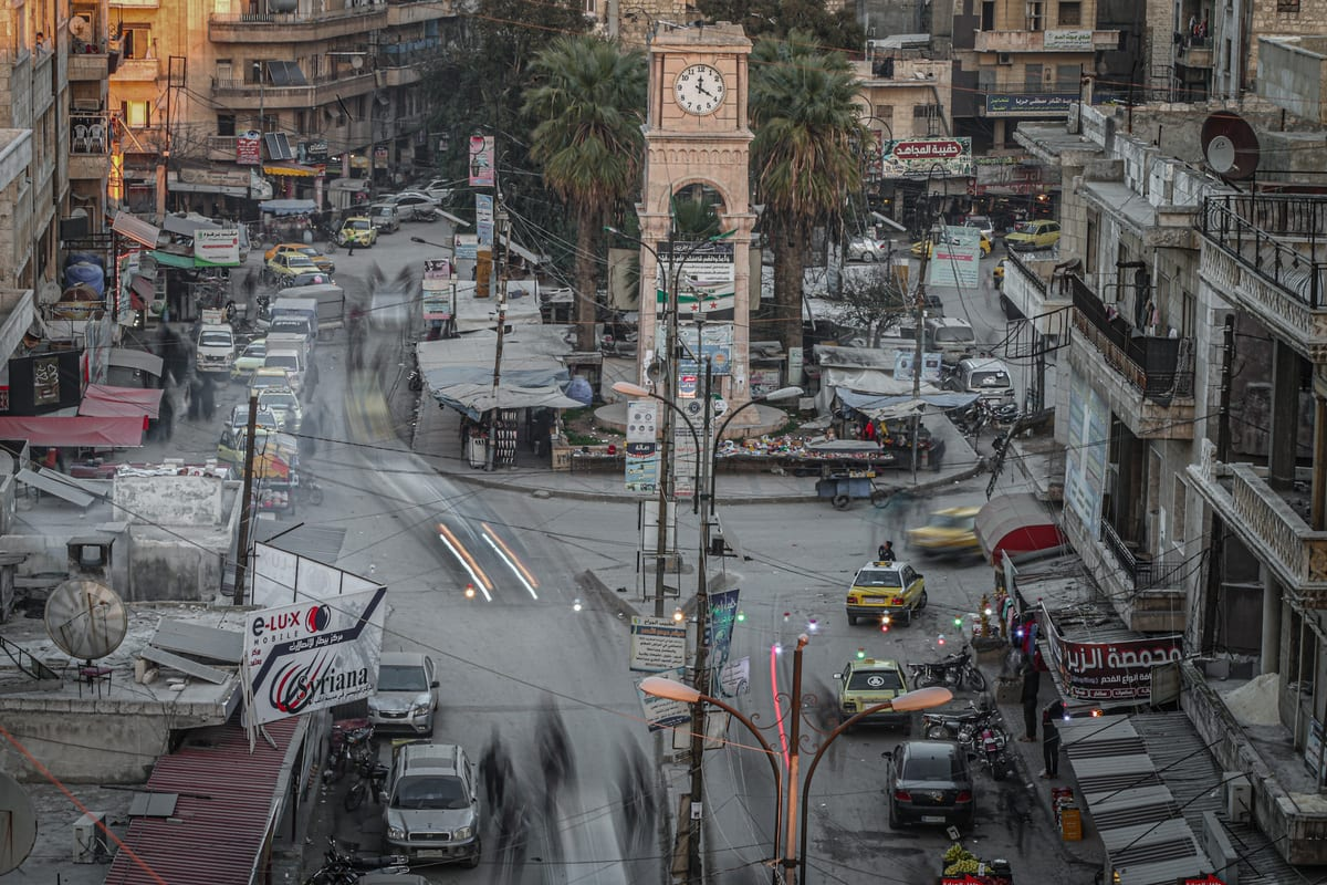 A view of Idlib city center in Syria on February 15, 2021. [Muhammed Said - Anadolu Agency]