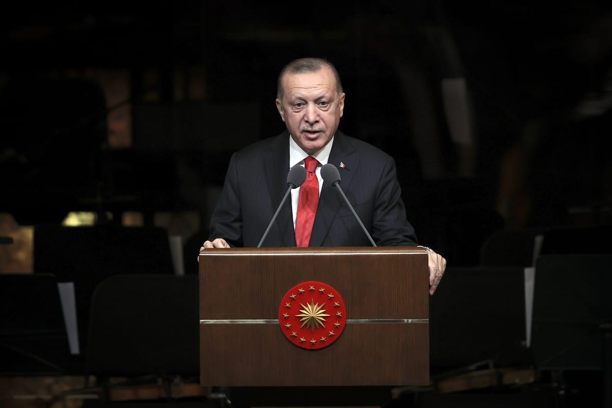 Turkish President Recep Tayyip Erdogan in Ankara, Turkey on 16 February 2021 [Halil Sağırkaya/Anadolu Agency]
