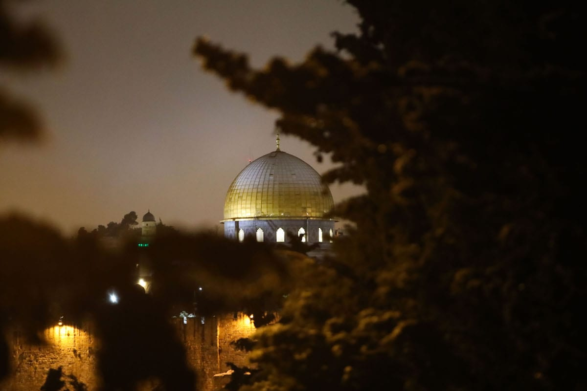 A view of the Dome of the Rock Mosque in East Jerusalem on 18 February 2021 [Mostafa Alkharouf/Anadolu Agency]