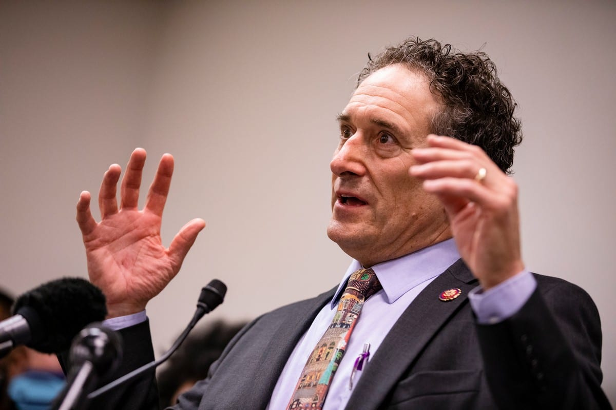 US Congressman Andy Levin in Capitol Hill, US on 6 February 2020 in Washington, DC [Samuel Corum/Getty Images]
