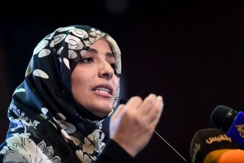 Nobel Peace Prize laureate Yemeni Tawakkol Karman on 11 November 2018 in Istanbul. [OZAN KOSE/AFP via Getty Images]